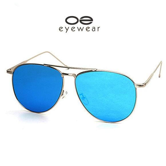 cd1d29666561 O2 Eyewear 97025 Oversized Flat Aviator Sunglasses